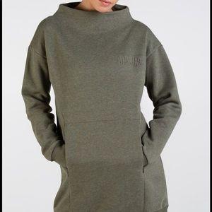 GRAY (swipe to see) gymshark turtleneck sweatshirt